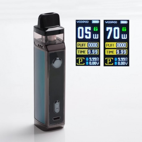 Authentic VOOPOO VINCI X 70W VW Box Mod Pod System Vape Kit with 5 PnP Coils - Drazzling Green, 0.3ohm /0.6ohm, 5~70W, 1 x 18650