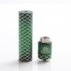 Authentic Steel Vape Sebone Hybrid Mechanical Mod + RDA Vape Kit - Green, Stainelss Steel, 1 x 18650, 24mm Diameter