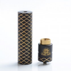 Authentic Steel Vape Sebone Hybrid Mechanical Mod + RDA Vape Kit - Black, Brass, 1 x 18650, 24mm Diameter