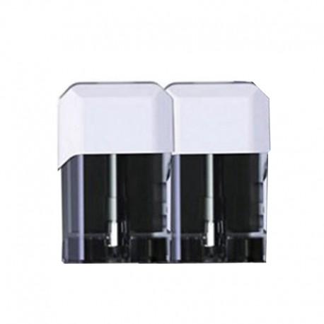 Authentic Vapelustion Hannya Nano Pod System Vape Kit Replacement Cartridge w/ 1.2ohm Coil - White, 2.0ml (2 PCS)