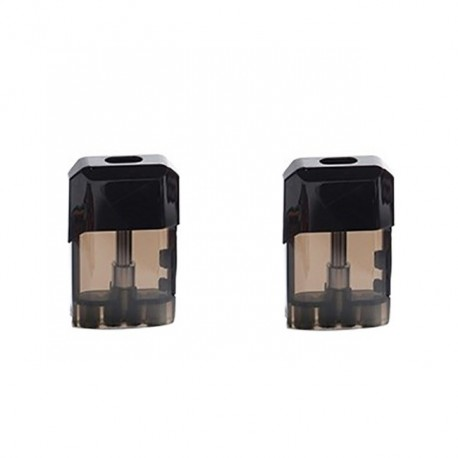 Authentic Vapelustion Hannya Nano Pod System Vape Kit Replacement Cartridge w/ 1.2ohm Coil - Black, 2.0ml (2 PCS)