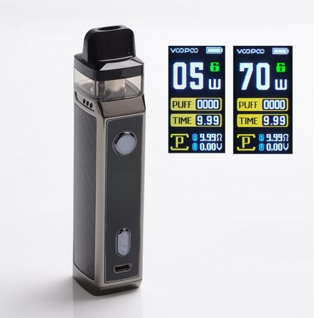 Authentic VOOPOO VINCI X 70W VW Box Mod Pod System Vape Kit with 5 PnP Coils - Carbon Fiber, 0.3ohm / 0.6ohm, 5~70W, 1 x 18650