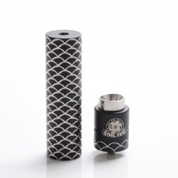 Authentic Steel Vape Sebone Hybrid Mechanical Mod + RDA Vape Kit - Black, Stainelss Steel, 1 x 18650, 24mm Diameter