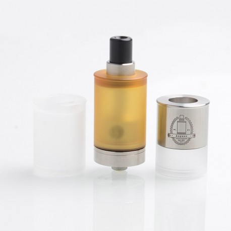 [Ships from Germany] Authentic Auguse MTL RTA Rebuildable Tank Atomizer w/ 2 Spare Tank Kit - Silver, SS + PEI, 4ml, 22mm Dia
