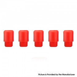 Replacement Disposable 510 Drip Tip for RDA / RTA / RDTA / Clearomizer / Sub Ohm Tank Atomizer - Red, Silicone, 17.5mm (5 PCS)
