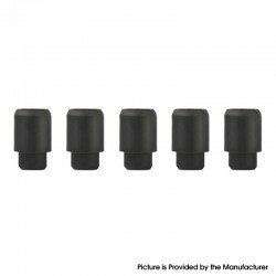 Replacement Disposable 510 Drip Tip for RDA / RTA / RDTA / Clearomizer / Sub Ohm Tank Atomizer - Black, Silicone, 17.5mm (5 PCS)