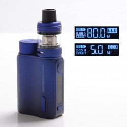 Authentic Vaporesso SWAG II 80W VW Box Mod w/ NRG PE Tank Atomizer Kit - Blue, 3.5ml, 5~80W, 1 x 18650