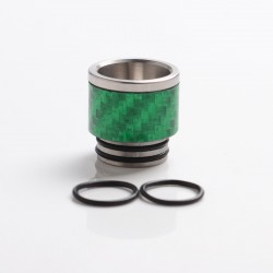 Authentic Reewape AS291 Replacement 810 Drip Tip for SMOK TFV8/TFV12 Tank/Kennedy/Battle RDA - Green, SS + Carbon Fiber, 16mm