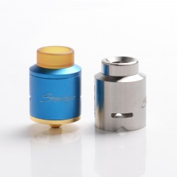 Authentic Steel Vape Compass RDA Rebuildable Dripping Vape Atomizer - Blue, Stainless Steel + Aluminum, 25mm Diameter