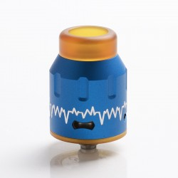 Authentic Steel Vape ECG Bottom Feeder RDA Rebuildable Dripping Vape Atomizer w/ BF Pin - Blue, Stainless Steel, 24mm Diameter