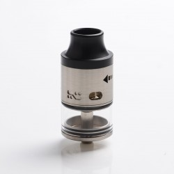 Authentic Steel Vape Tailspin RDTA Rebuildable Dripping Tank Vape Atomizer - Silver, Stainless Steel, 4ml, 25mm Diameter