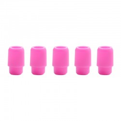 Replacement Disposable 510 Drip Tip for RDA / RTA / RDTA / Clearomizer / Sub Ohm Tank Atomizer - Pink, Silicone, 17.5mm (5 PCS)