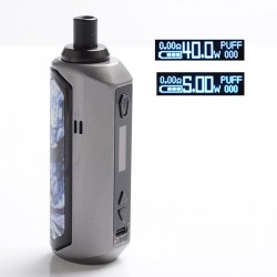 Authentic Artery Nugget AIO 40W 1500mAh VW Box Mod Pod System Starter Kit - Gunmetal, Zinc Alloy + Plastic, 2ml, 5~40W