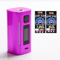 Authentic Asmodus Lustro 200W Touch Screen TC VW Variable Wattage Vape Box Mod - Pink, 5~200W, 2 x 18650