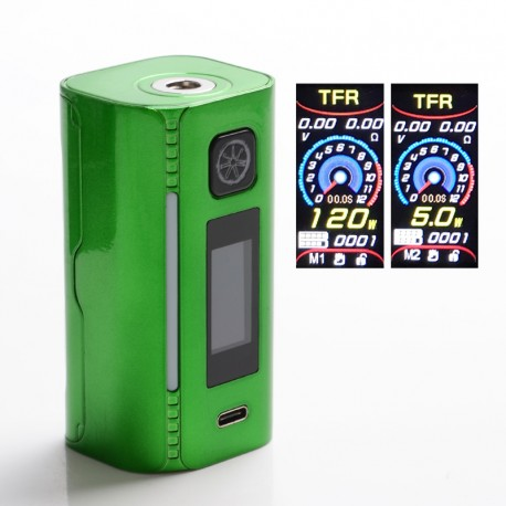 Authentic Asmodus Lustro 200W Touch Screen TC VW Variable Wattage Vape Box Mod - Candy Green, 5~200W, 2 x 18650