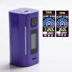 Authentic Asmodus Lustro 200W Touch Screen TC VW Variable Wattage Vape Box Mod - Purple, 5~200W, 2 x 18650