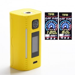 Authentic Asmodus Lustro 200W Touch Screen TC VW Variable Wattage Vape Box Mod - Yellow, 5~200W, 2 x 18650