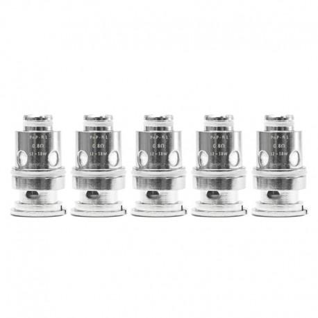 Authentic VapeSoon PnP-R1 MTL Regular Coil for DRAG Baby / FIND Trio / VINCI / VINCI R / VINCI X Kit - 0.8ohm (12~18W) (5 PCS)