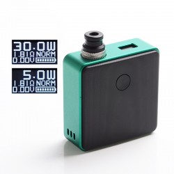 [Ships from Battery Warehouse] Authentic SXK Bantam Revision 30W VW Box Vape Mod Kit w/ 18350 Battery - Green, 5~30W, 1 x 18350