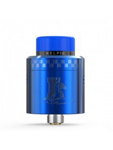 Authentic Ehpro Kelpie BF RDA Rebuildable Dripping Vape Atomizer w/ BF Pin - Blue, Stainless Steel + Resin, 24mm Diameter