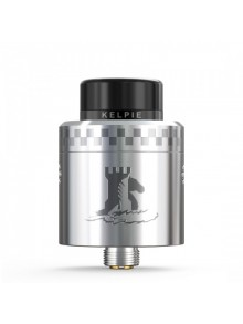 Authentic Ehpro Kelpie BF RDA Rebuildable Dripping Vape Atomizer w/ BF Pin - Silver, Stainless Steel + Resin, 24mm Diameter