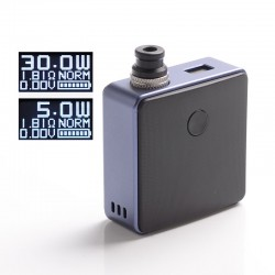 [Ships from Battery Warehouse] Authentic SXK Bantam Revision 30W VW Box Vape Mod Kit w/ 18350 Battery - Purple, 5~30W, 1 x 18350