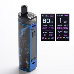 Authentic SMOKTech SMOK RPM80 Pro 80W VW Mod Pod System Vape Starter Kit w/ IQ-80 Chip - Fluid Blue, 1~80W, 1 x 18650