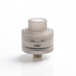 Authentic Gas Mods G.R.1 GR1 S RDA Rebuildable Dripping Vape Atomizer w/ BF Pin - Transparent Black, SS + PMMA, 22mm Diameter