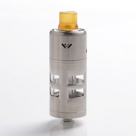 Authentic ShenRay FENRIS RDTA Rebuildable Dripping Tank Vape Atomizer - Silver, 316 Stainless Steel + Glass, 10ml, 25mm Diameter