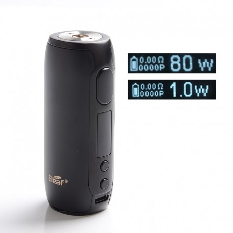 Authentic Eleaf iStick Rim C 80W TC VW Variable Wattage Box Vape Mod - Matte Black, 1~80W, 1 x 18650