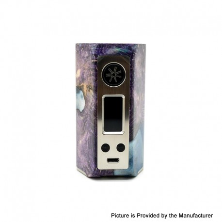 Authentic Asmodus Minikin Kodama 21700 180W TC VW Vape Box Mod - Purple, Stabilized Wood + Resin, 5~180W, 1 x 21700