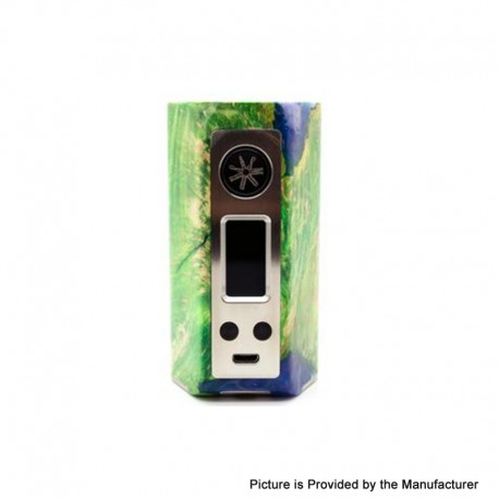 Authentic Asmodus Minikin Kodama 21700 180W TC VW Vape Box Mod - Green, Stabilized Wood + Resin, 5~180W, 1 x 21700