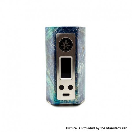 Authentic Asmodus Minikin Kodama 21700 180W TC VW Box Vape Mod - Blue, Stabilized Wood + Resin, 5~180W, 1 x 21700