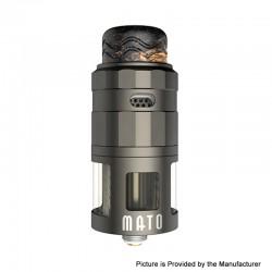 Authentic Vandy Vape Mato RDTA Rebuildable Dripping Tank Atomizer w/ BF Pin - Gun Metal, SS , 5ml, 24mm Diameter