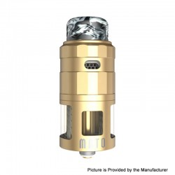 Authentic Vandy Vape Mato RDTA Rebuildable Dripping Tank Atomizer w/ BF Pin - Gold, Stainless Steel, 5ml, 24mm Diameter