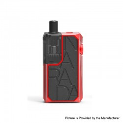 Authentic Augvape Narada Pro 30W VW Pod System Vape MTL / DL Starter Kit - Red + Black Leather, 5~30W, 3.7ml