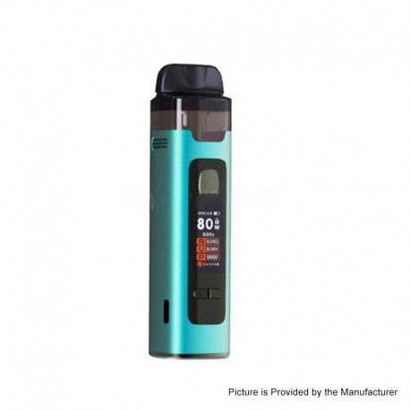 Authentic Advken Orcas MX Cube 80W VW Pod System Vape Starter Kit - Blue, 4.5ml, 0.8 / 0.3ohm, 5~80W, 1 x 18650
