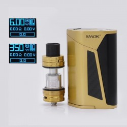 Authentic SMOKTech SMOK GX350 350W TC VW Box Vape Mod w/ TFV8 Cloud Beast Tank Full Kit - Gold Black, 220W / 350W, 4 x 18650