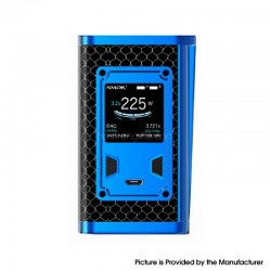 Authentic SMOKTech SMOK Majesty 225W TC VW Variable Wattage Box Vape Mod - Prism Blue and Black Cobra, 6~225W, 2 x 18650
