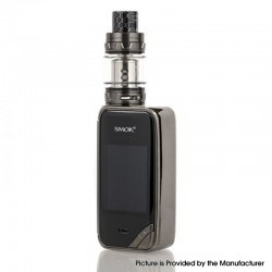 Authentic SMOKTech SMOK X-Priv 225W TC VW Box Vape Mod + TFV12 Prince Standard Kit - Prism Gun Metal, 8ml, 1~225W, 2 x 18650