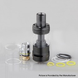 Authentic Uwell Rafale Sub Ohm Tank Vape Clearomizer - Black, Stainless Steel + Quartz Glass, 5ml, 22mm Diameter