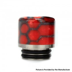 Authentic Coil Father Anti Split 810 Drip Tip for SMOK TFV8 / TFV12 Tank / Kennedy / Battle RDA - Honeycomb Red, Resin, 17mm