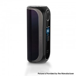 Authentic OBS Cube FP Fingerprint Unlock 80W VW Vape Box Mod - Shiny Black, Zinc Alloy + 3D Curved Glass, 5~80W, 1 x 18650