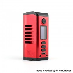 Authentic Dovpo Odin 200 200W TC VV VW Box Mod - Red, Aluminum Alloy + Zinc Alloy, 5~200W, 200~600'F, 2 x 20700 / 21700