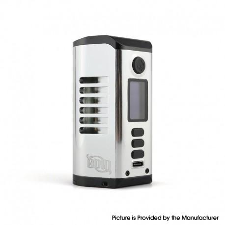 Authentic Dovpo Odin 200 200W TC VV VW Box Mod - Silver, Aluminum Alloy + Zinc Alloy, 5~200W, 200~600'F, 2 x 20700 / 21700