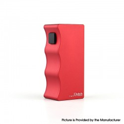 Authentic Dovpo X Signature Tips X Mike Vapes Clutch 21700 Mech Mechanical Vape Box Mod - Red, 1 x 21700