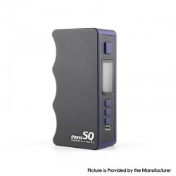 Authentic Dovpo Mono SQ 75W TC VW Variable Wattage Vape Box Mod - Blue, 1~75W, Evolv's DNA75C Chipset, 1 x 18650