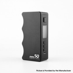 Authentic Dovpo Mono SQ 75W TC VW Variable Wattage Vape Box Mod - Black, 1~75W, Evolv's DNA75C Chipset, 1 x 18650