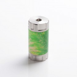 Authentic Ultroner Mini Stick Tube MOSFET Semi-Mechanical Mod - Silver + Green, SS + Stabilized Wood, 1 x 18350