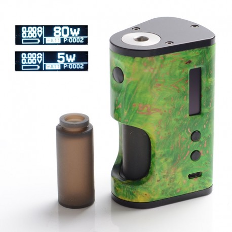 Authentic ULTRONER Aether Squonker 80W TC VW Variable Wattage Box Mod - Green, 5~80W, 1 x 18650